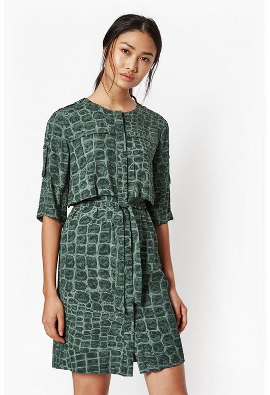 Ali Gator Shirt Dress