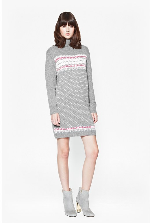 Florence Fairisle Jumper Dress
