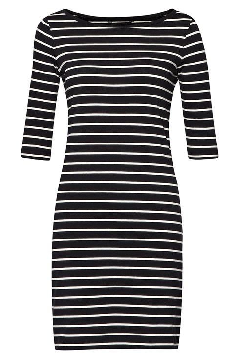 Tim Tim Striped Jersey Dress