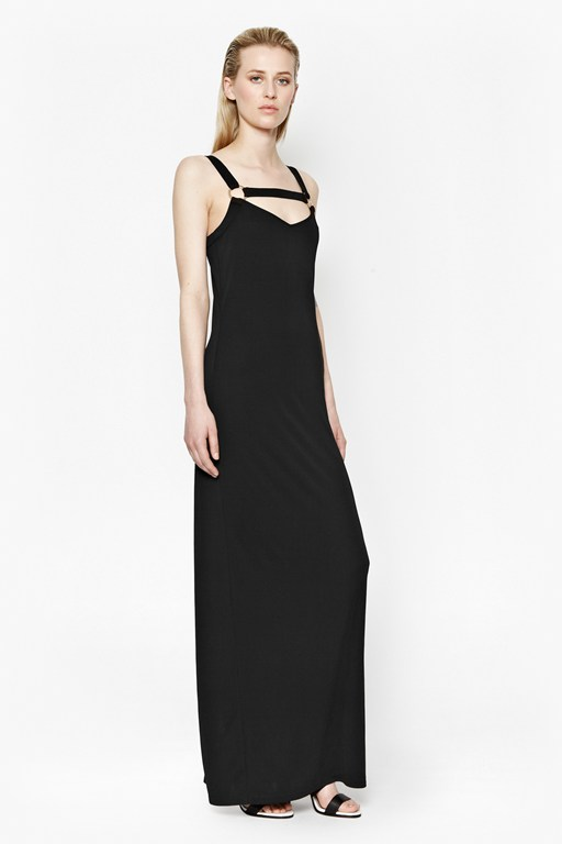 Mona Crepe Strappy Maxi Dress