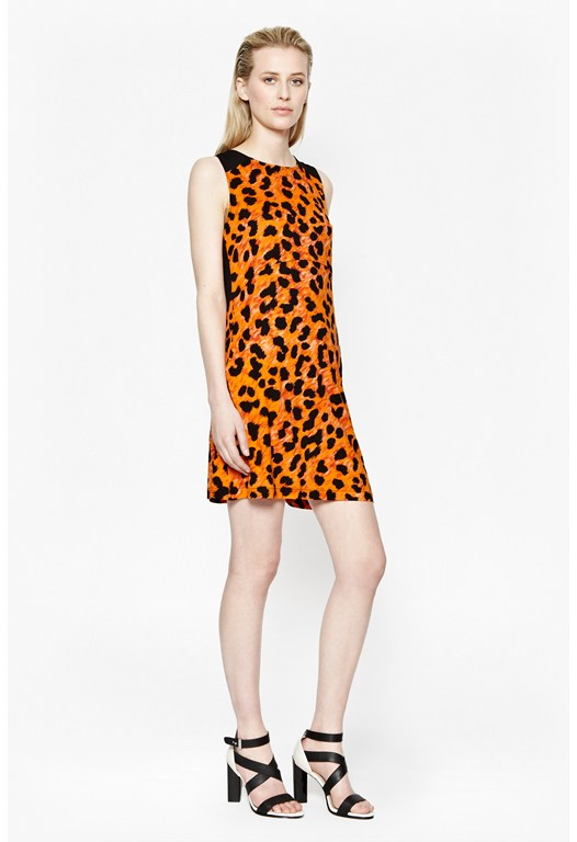 Leo Leopard Flared Dress