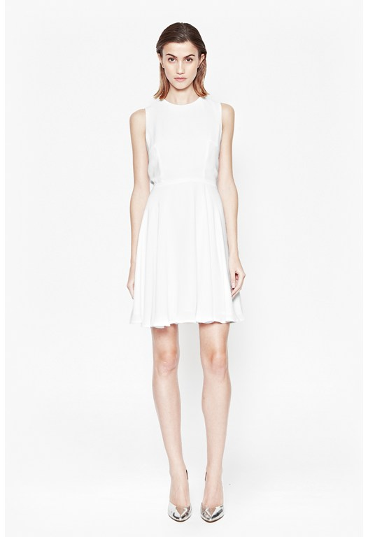 Ana Crepe Flare Dress