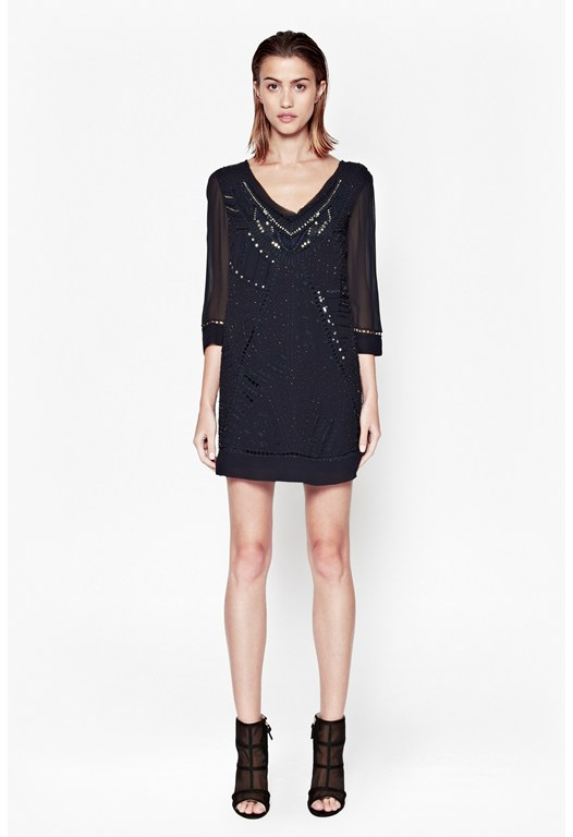 Evissa Beaded Tunic Dress