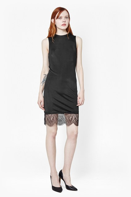 Lace Spark Round Neck Dress