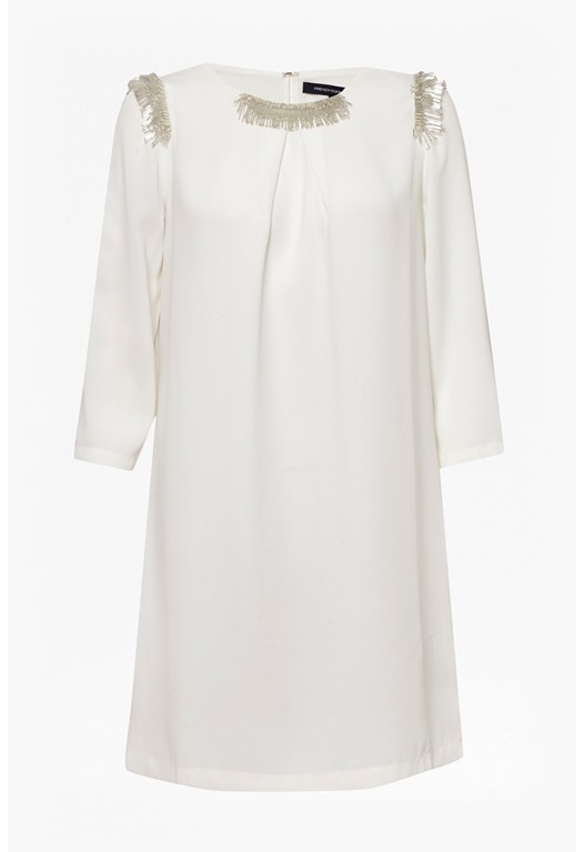 Bugle Embellished Tunic Dress