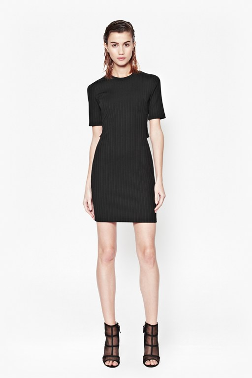 Tracks Ribbed Bodycon Dress