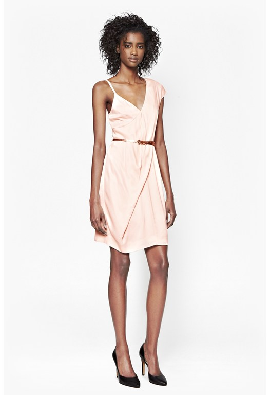 Cyclone Crepe One Strap Dress