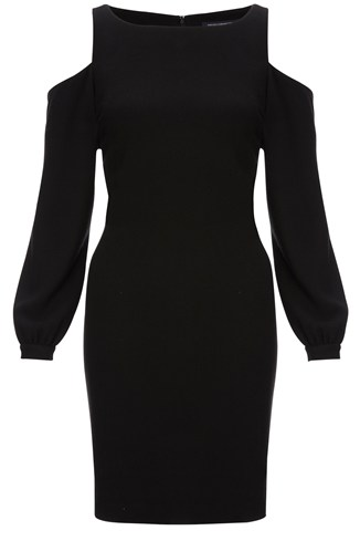 Hidden Friction Cutout Shoulder Dress