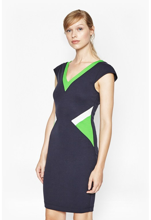 Sarah Colour-Block Bodycon Dress
