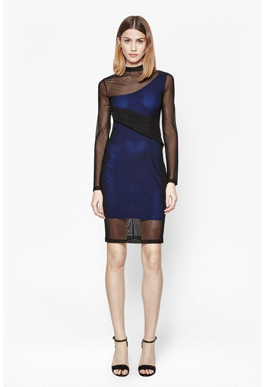 Mia Bodycon Roll Neck Dress