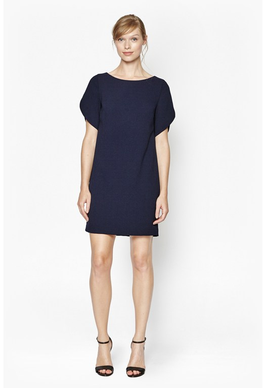 Aro Crepe Boxy Shift Dress