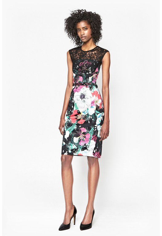Floral Reef Printed Dress