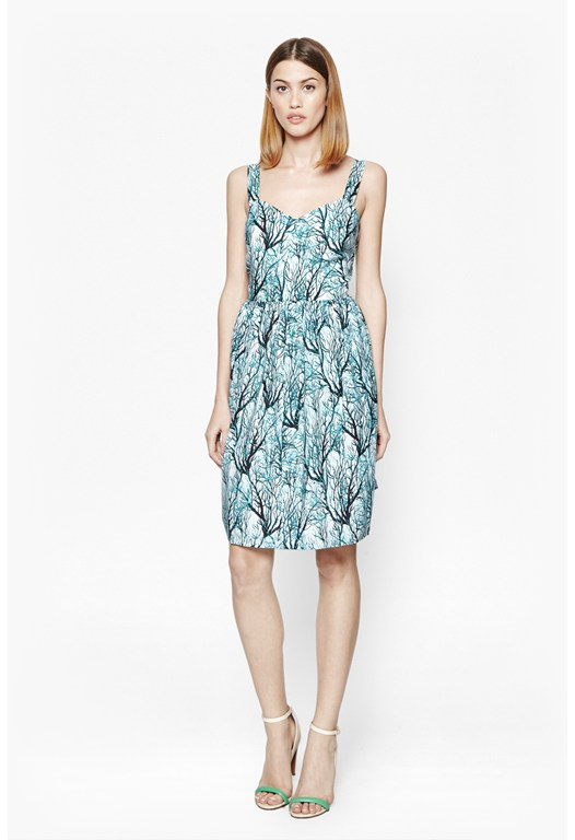 Sea Fern Cotton Dress