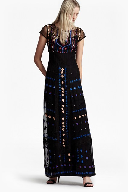 Coachella Embroidered Maxi Dress