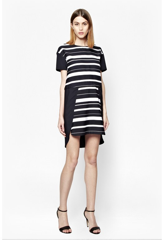 Frieda Stripe Colour Block Dress
