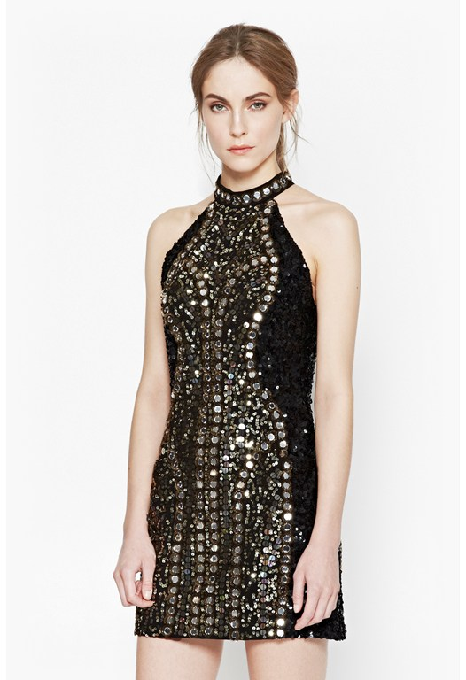 Aspen Embellished Sequin Dress