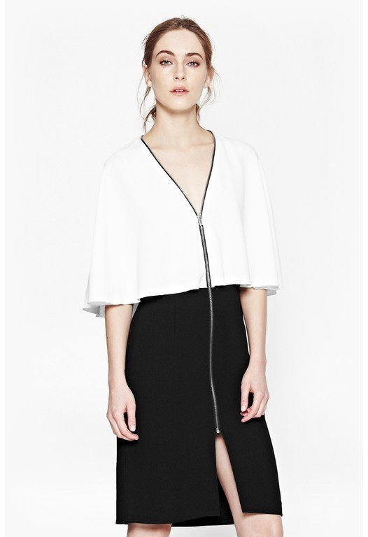 Arrow Monochrome Layered Dress