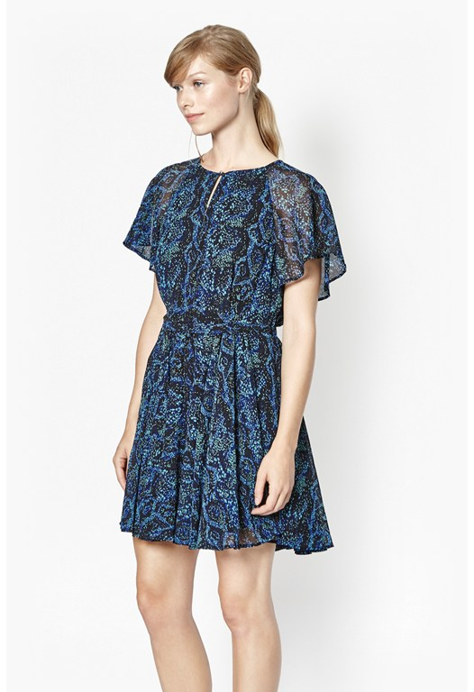 Soho Boa Printed Mini Dress