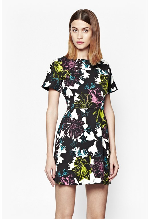 Botanical Trip Floral Stretch Dress
