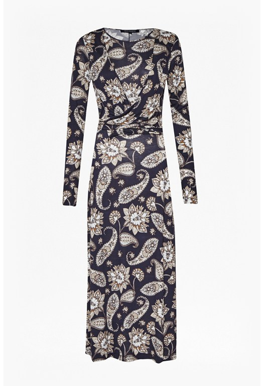 Sundown Jersey Paisley Maxi Dress