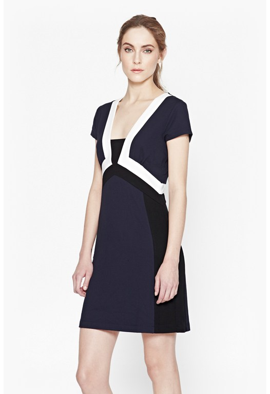 Manhattan Colour Block Fitted Dress