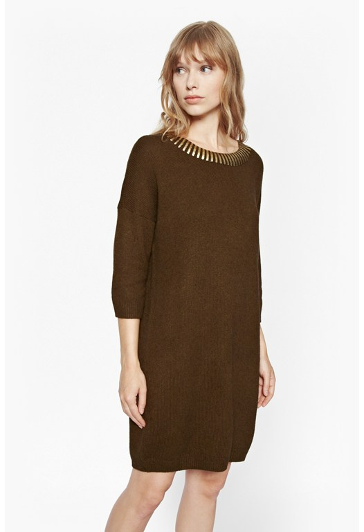 Ruby Metallic Oversized Jumper Dress