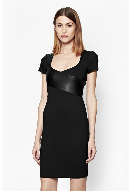 Midnight Wrap Bodycon Dress