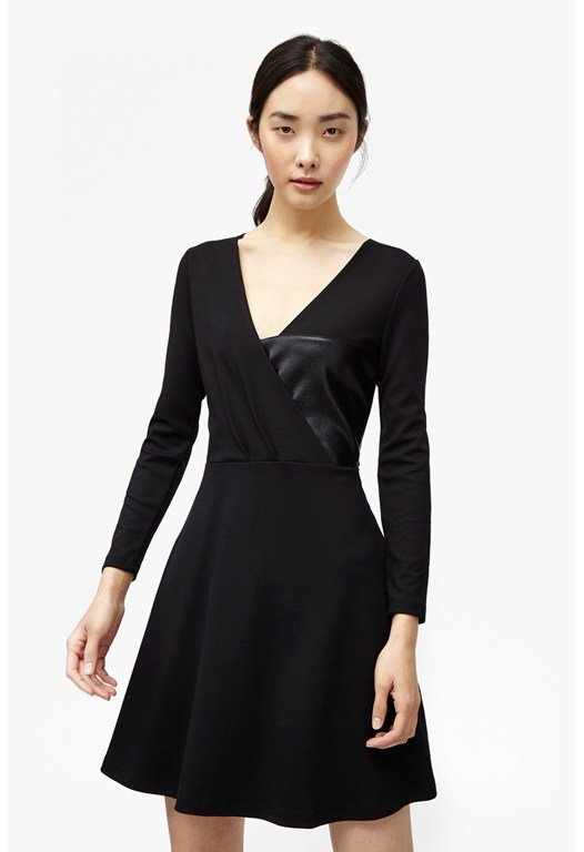 Midnight Wrap Skater Dress