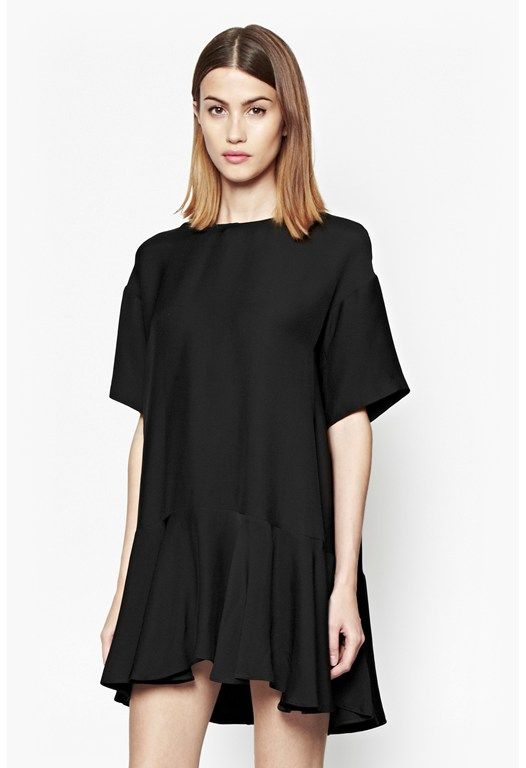 Downtown Frill Crepe Dress