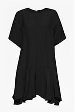Looks Great With Downtown Frill Oversized Crepe Dress