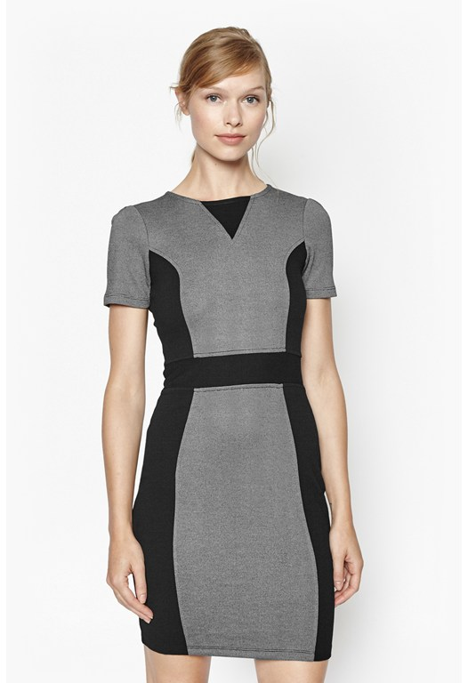 Manhattan Colour Block Bodycon Dress