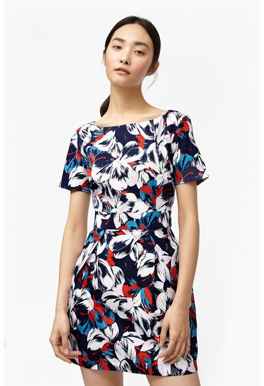 Lucky Leaves Floral Dress