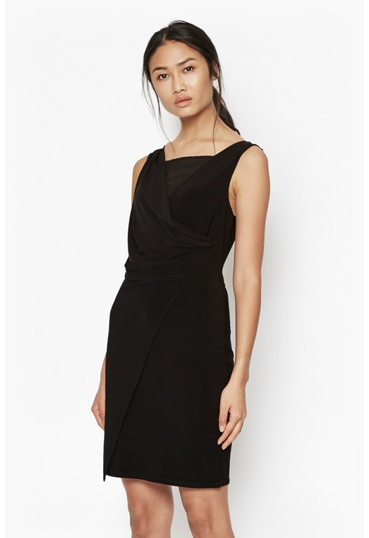 Mona Crepe Cross Over Dress