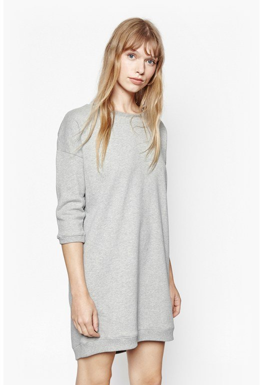 Raw Oversized Sweater Dress