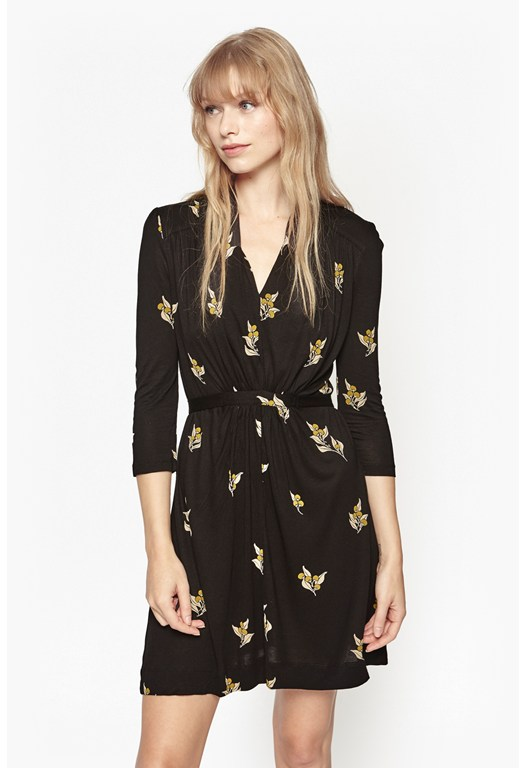 Berry Print Jersey Dress