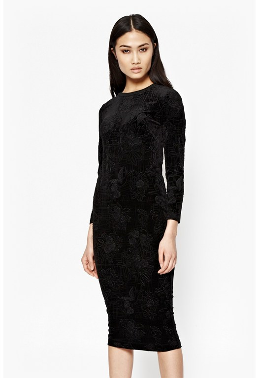 Downtown Velvet Midi Dress