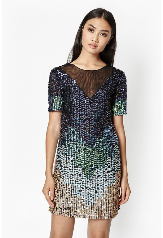 Cosmic Beam Sequin Dress