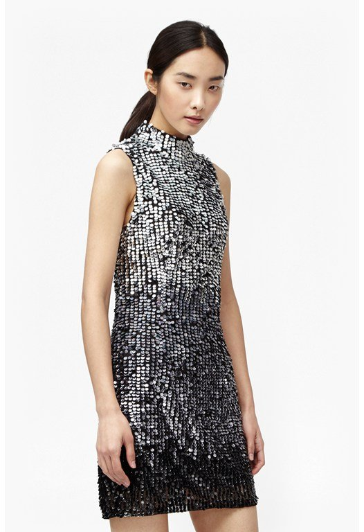 Sunbeamer Highneck Sequin Dress