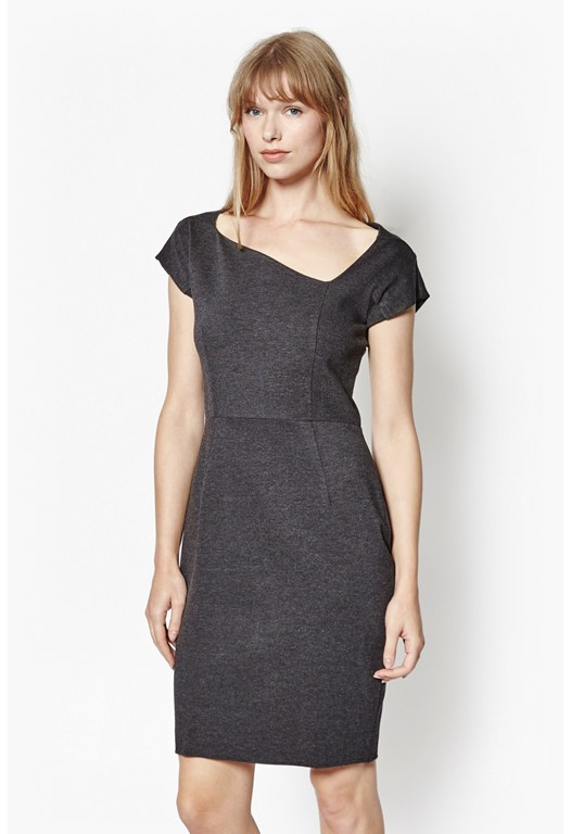 Nadine Asymmetric Pencil Dress