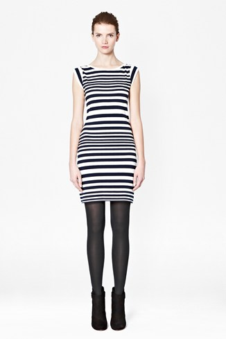 Marissa Striped Stretch Cotton Dress