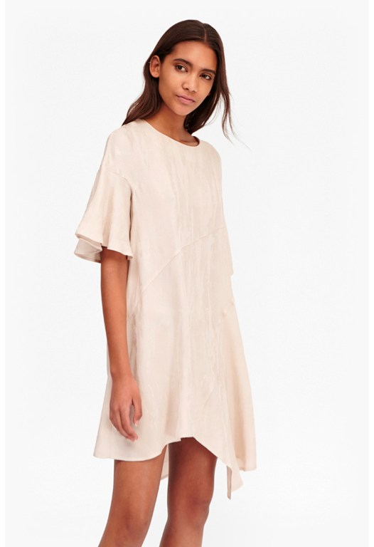 Palm Crepe Swing Dress