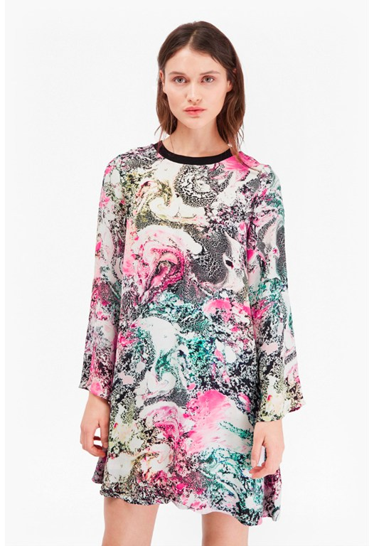 Mineral Pool Printed Swing Dress