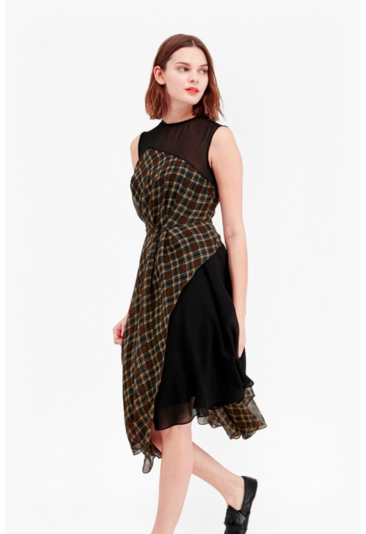 Masai Check Flared Dress
