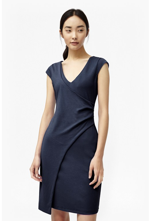 Manhattan V Neck Wrap Dress