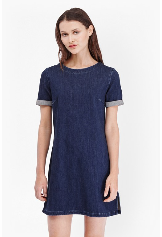 Stretch Modal Denim Shift Dress