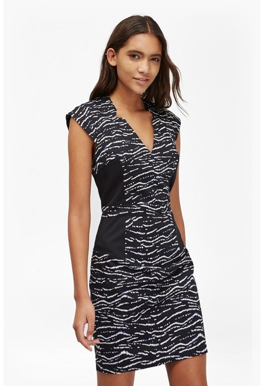 Tapir Wave Fitted Pencil Dress