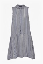 Looks Great With Serge Stripe Sleeveless Shirt Dress