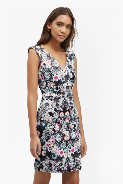 Isola Bloom Floral Print Dress