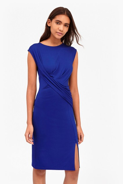 Shadow Dance Wrap Jersey Dress