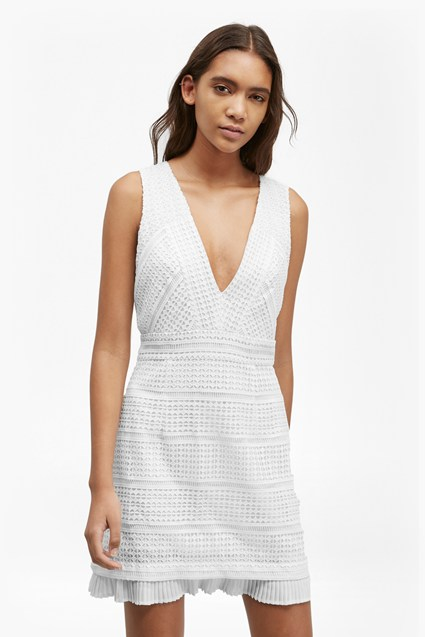 Summer Cage Geometric Lace Dress